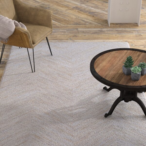 Loraine Hand Woven Beige Area Rug by Williston Forge
