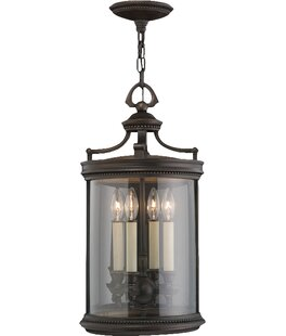 Louvre 4-Light Outdoor Hanging Lantern By Fine Art Lamps