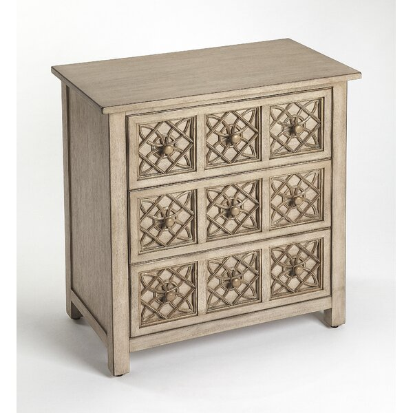 Bowie 3 Drawer Accent Chest by Bungalow Rose