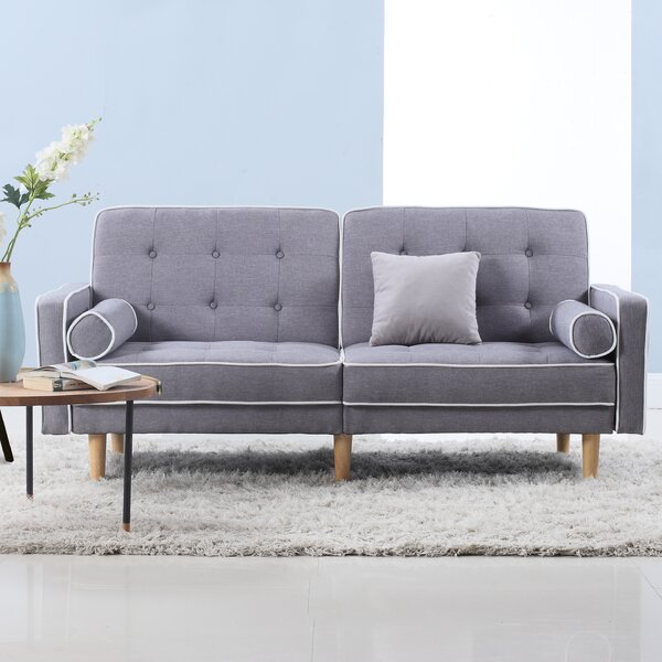 Mid Century Modern Convertible Sofa by Madison Home USA