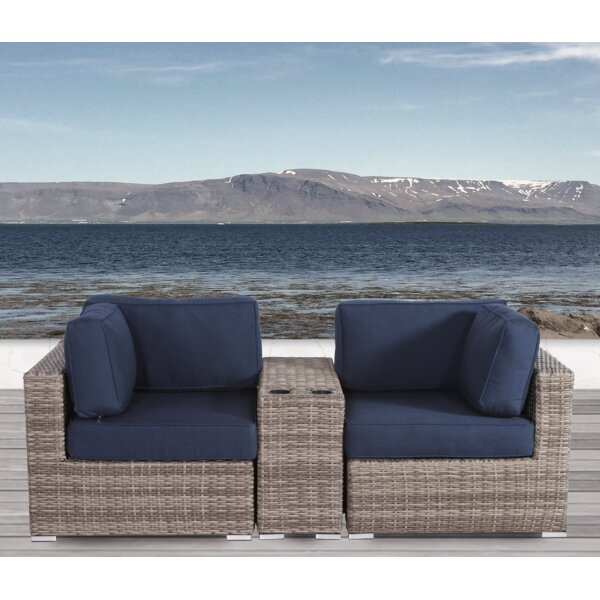 Lazaro 3 Piece Conversation Seating Group with Sunbrella Cushions by Sol 72 Outdoor