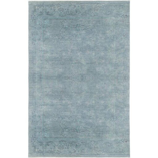 Chebanse Hand-Knotted Blue Area Rug by Darby Home Co