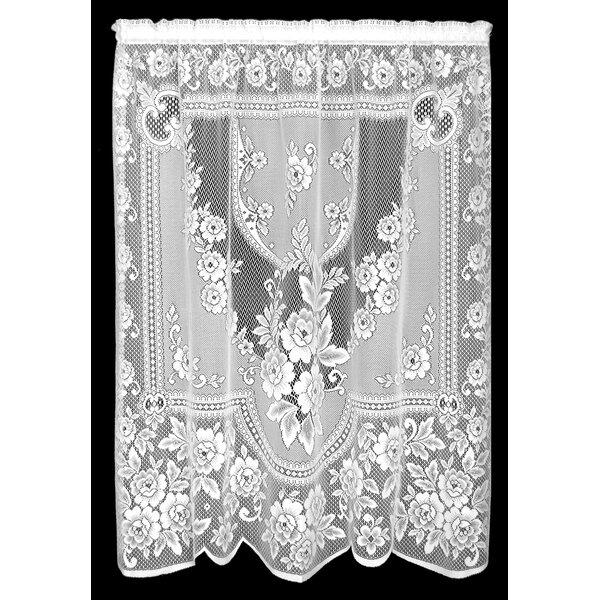 Genet Graphic Print Text Sheer Rod Pocket Single Curtain Panel By Lark Manor.
