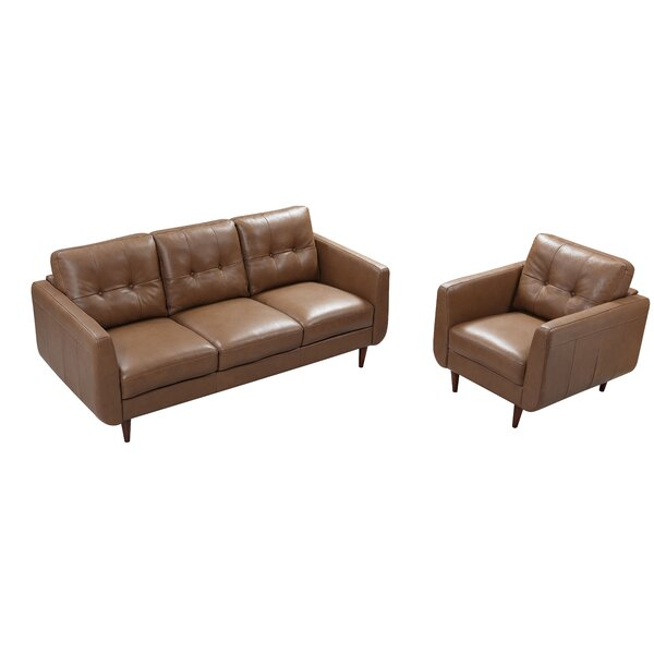 Chewton Mendip Leather Configurable Living Room Set by Latitude Run Latitude Run