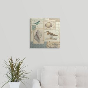 'Coastal Collage II' by Alain Pelletier Graphic Art on Wrapped Canvas by Great Big Canvas