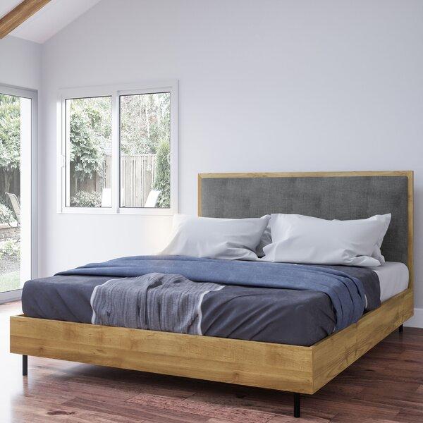 Plummer Wood Queen Upholstered Platform Bed by George Oliver