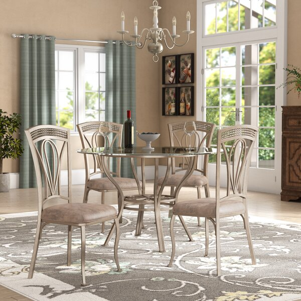Anton 5 Piece Dining Set by Fleur De Lis Living