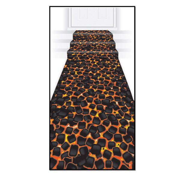 Hot Coals Runner Indoor/Outdoor Area Rug by The Beistle Company