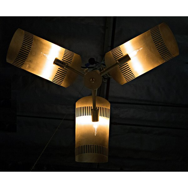 3 - Light Shaded Geometric Chandelier by Noir Noir