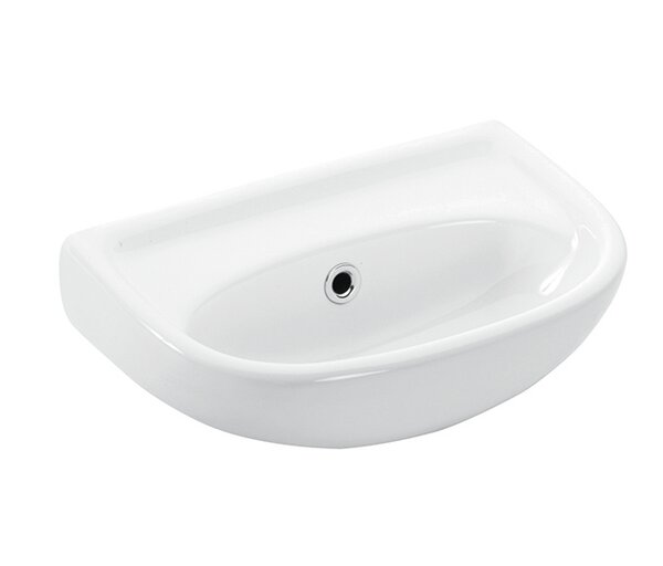 Basic Ceramic 16 Wall Mount Bathroom Sink with Overflow by WS Bath Collections