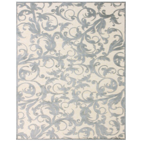Caples Cream/Silver Area Rug by Charlton Home
