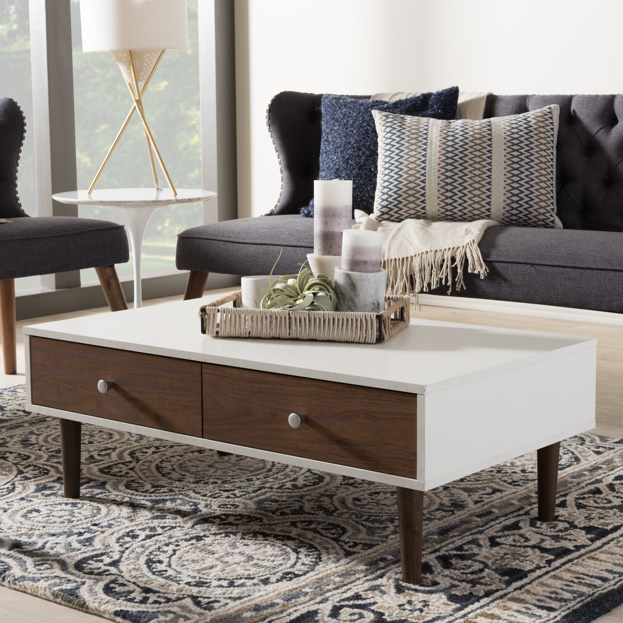 27 Eclectic Farmhouse Decor Family Rooms Coffee Tables 61: Wholesale Interiors Baxton Studio Coffee Table & Reviews