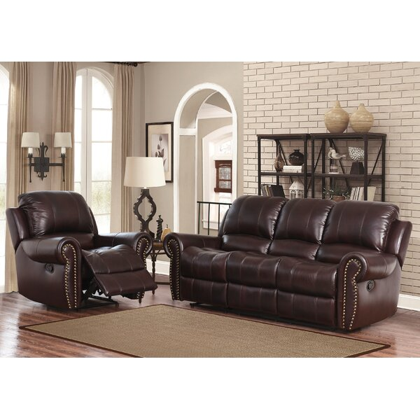 Deltoro 2 Piece Leather Reclining Living Room Set by Darby Home Co