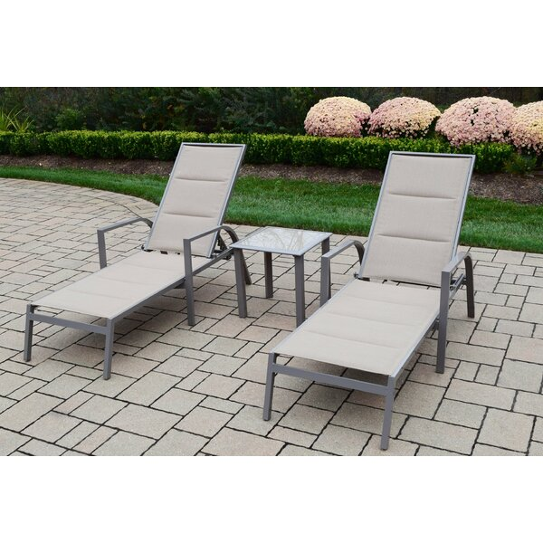 3 Piece Padded Sling Chaise Lounge Set by Oakland Living