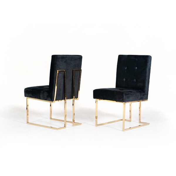 Frisina Upholstered Dining Chair (Set of 2) by Everly Quinn Everly Quinn