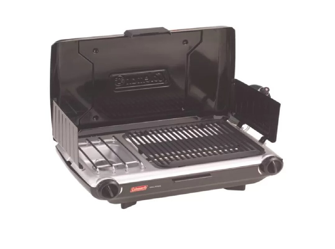 Portable Grill Enclosures : Coleman perfectflow portable burner propane grill and