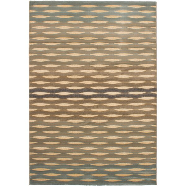 Roundtree Power Loom Beige/Light Blue Area Rug by Brayden Studio