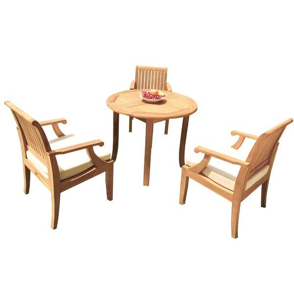 Dandre 4 Piece Teak Dining Set By Rosecliff Heights