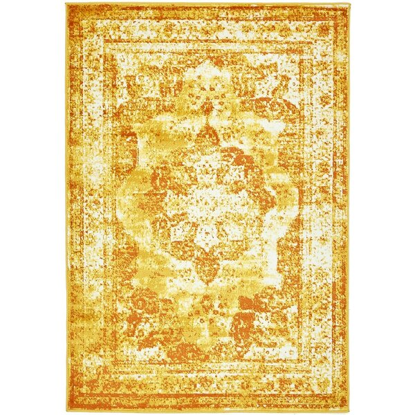 Brandt Yellow/Orange Area Rug by Mistana
