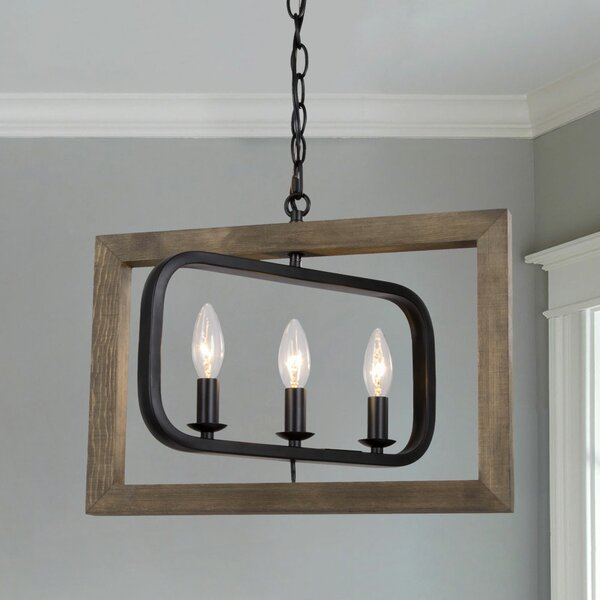 Iban 3 - Light Candle Style Rectangle Chandelier by Gracie Oaks Gracie Oaks