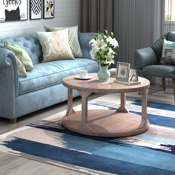 Review Glennville Floor Shelf Coffee Table