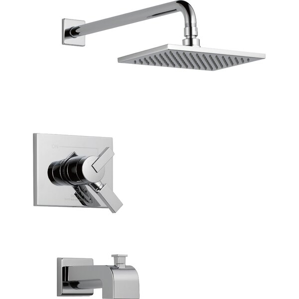 Vero 17 Series Tub and Shower Faucet Trim with Lever Handles and Monitor by Delta