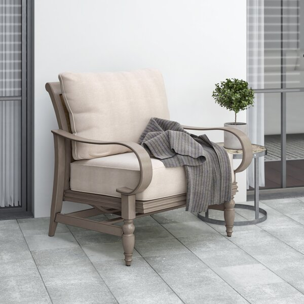 Alarcon Patio Chair with Cushion by Canora Grey