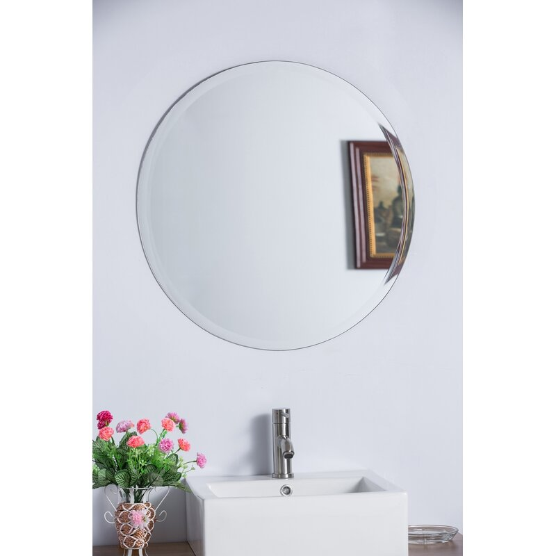 frameless bathroom vanity mirror. Round Frameless Bathroom/Vanity Wall Mirror Frameless Bathroom Vanity Mirror D