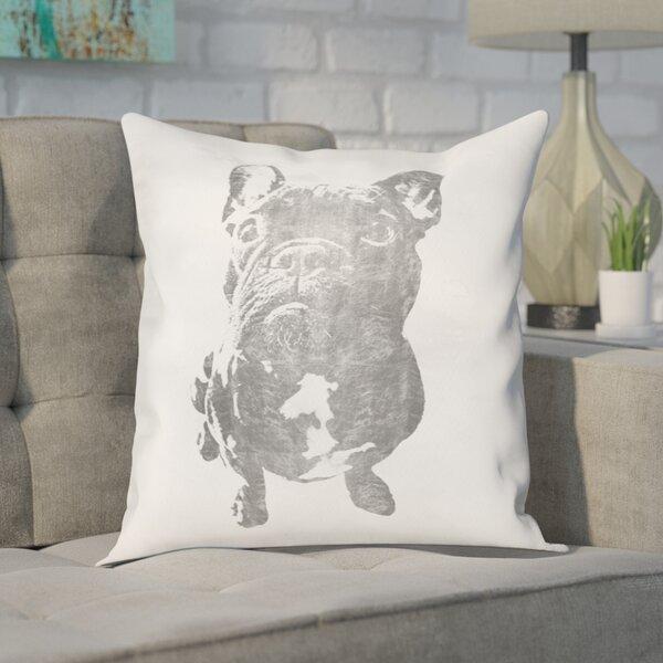 Frazier Frenchie Throw Pillow by Brayden Studio
