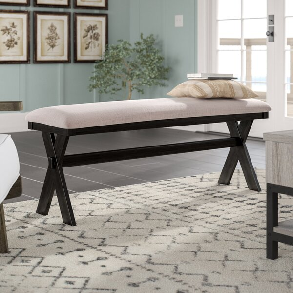 Manitou Transitional Wood/Metal Bench by Laurel Foundry Modern Farmhouse
