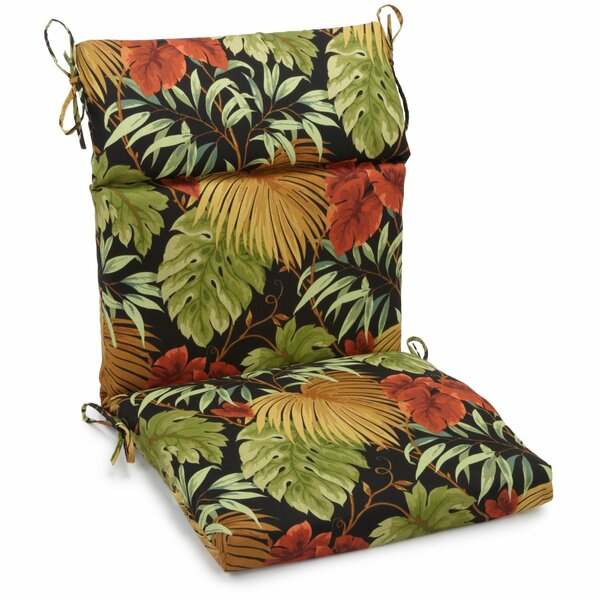 Indoor/Outdoor High Back Adirondack Chair Cushion by Freeport Park