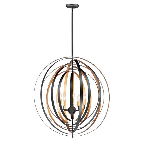 Krupa 5 - Light Unique / Statement Globe Chandelier by George Oliver George Oliver