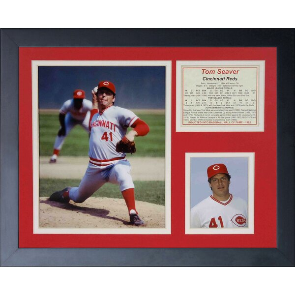 Tom Seaver - Reds Framed Memorabilia by Legends Never Die