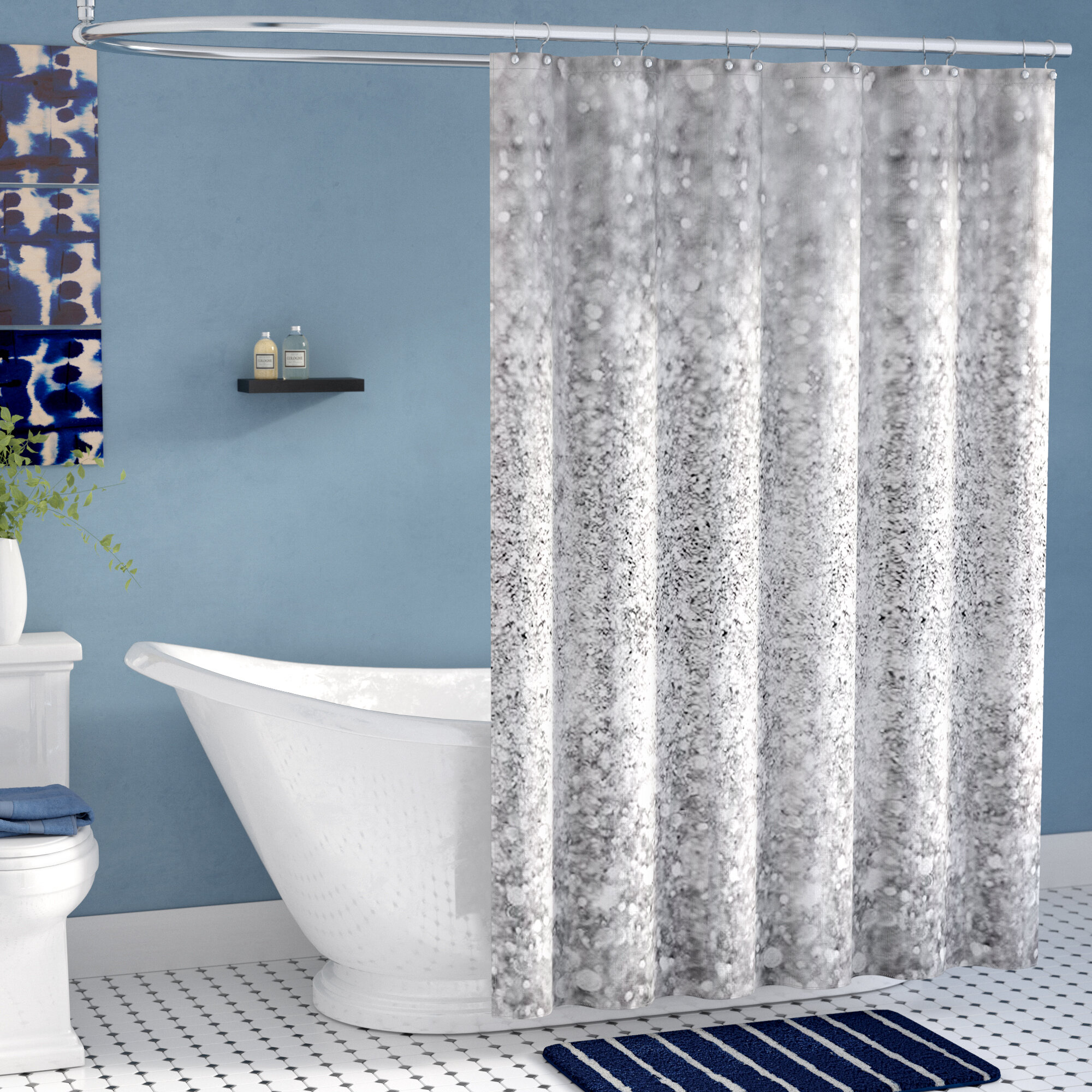 Shiny Glamour Luxury Single Shower Curtain