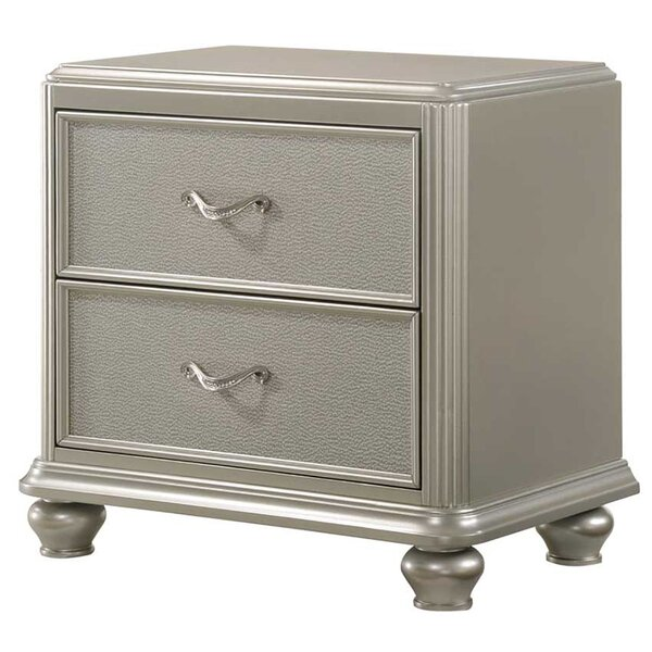 Drage 2 Drawer Nightstand by Rosdorf Park