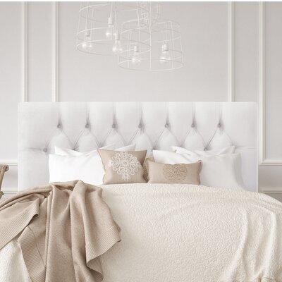 Bridget Upholstered Panel Headboard Wayfair Custom Upholstery™ Size: King, Body Fabric: Velvet Caribbean