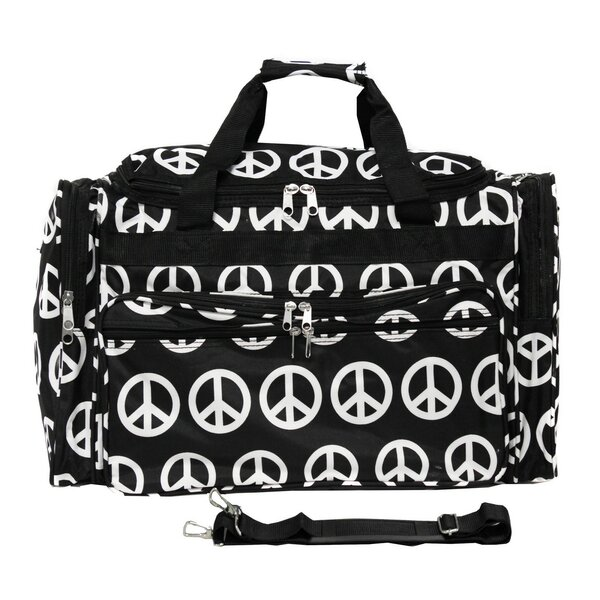 Peace Sign 19 Shoulder Duffel Bag by World Traveler