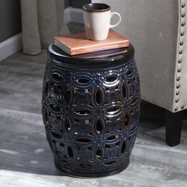 Filmore Ceramic Pierced Garden Stool by Bloomsbury Market
