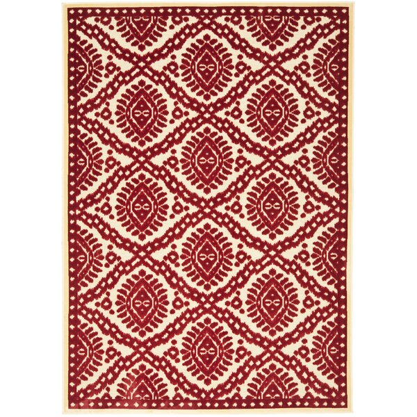 Hand-Woven Red Area Rug by Martha Stewart Rugs