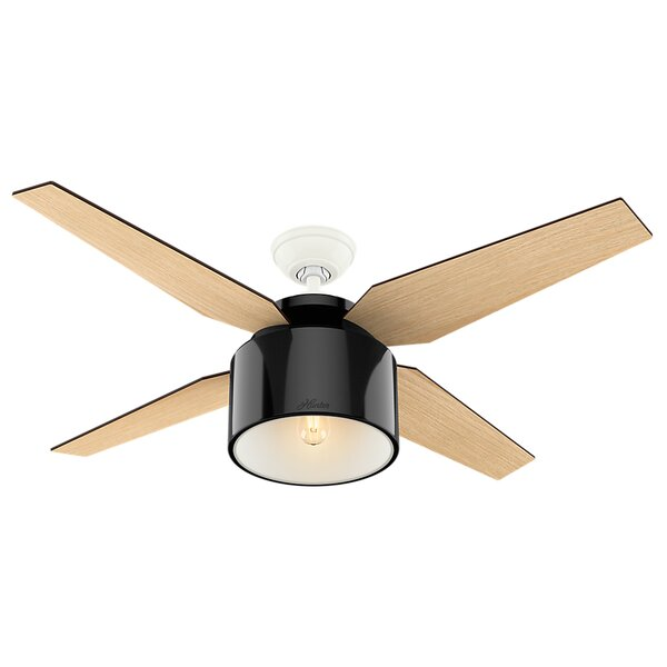 52 Cranbrook 4-Blade Ceiling Fan with Remote by Hu