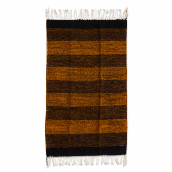 Weare Brown Hand Woven Area Rug by Millwood Pines