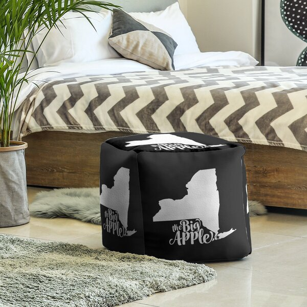 The Big Apple NY Cube Ottoman By East Urban Home