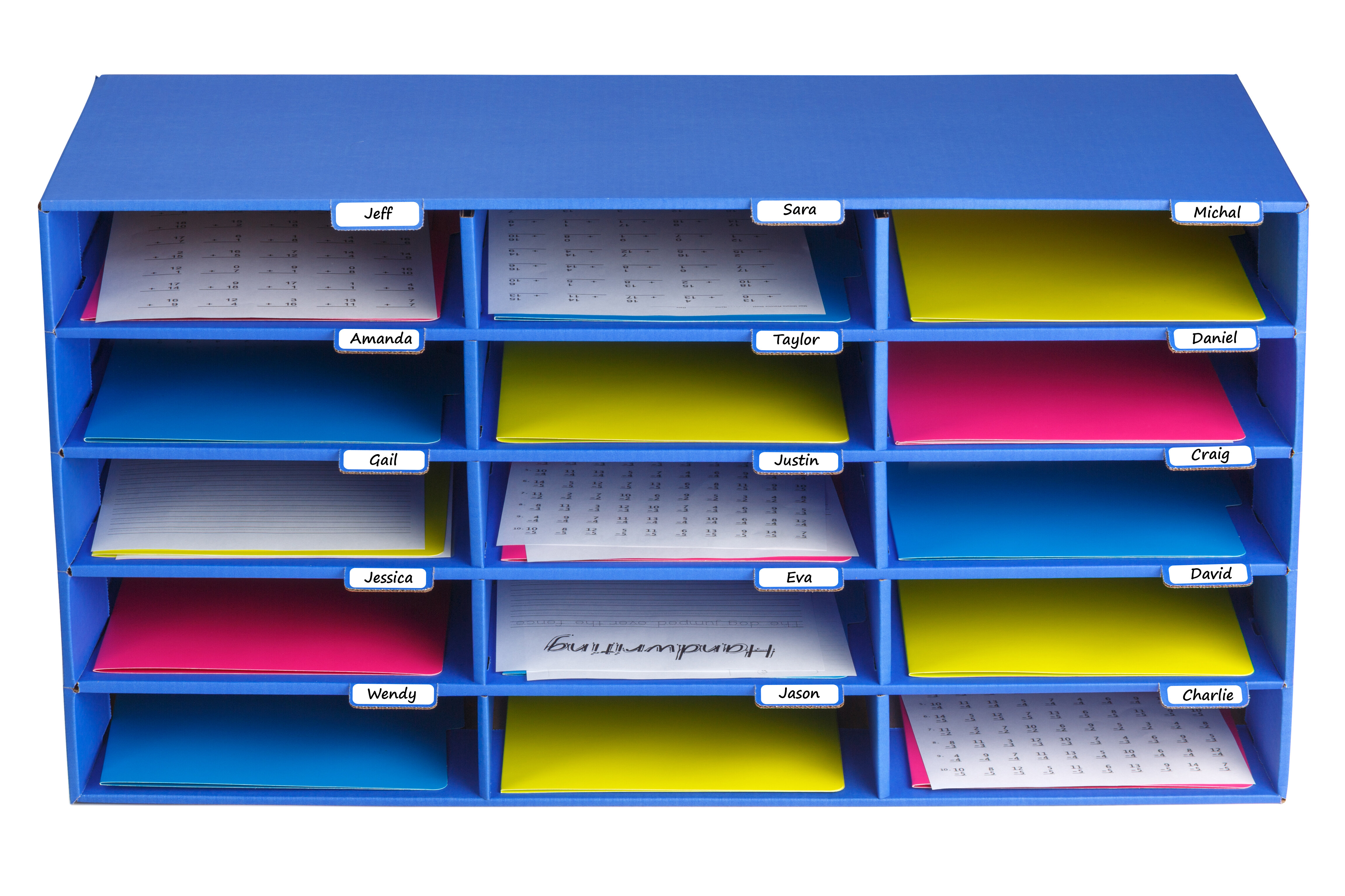 classroom organizer slots storage desk pacon x construction pin paper