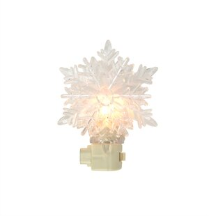 Snowy Winter Decorative Snowflake Christmas Night Light By Sienna Lighting Wall Lights