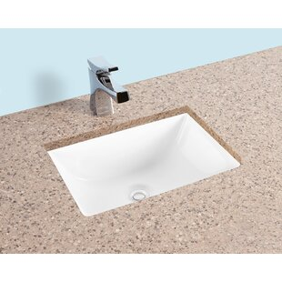 Inexpensive Ceramic Rectangular Undermount Bathroom Sink with Overflow ByWinfield products