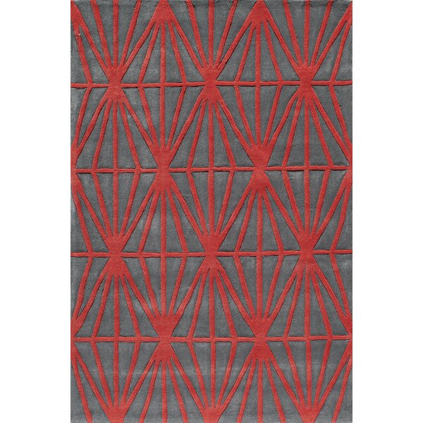 Fowler Hand-Tufted Red Tufted Rug by George Oliver
