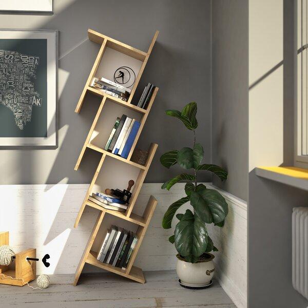Manawa Floating Geometric Bookcase by Wrought Studio