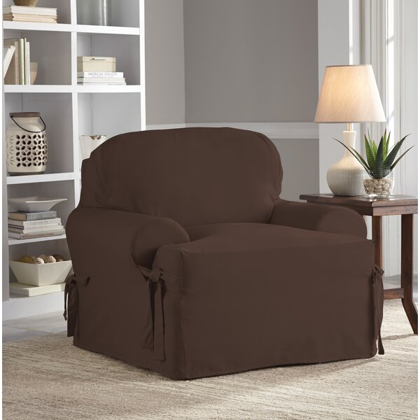 Relaxed Fit Duck Furniture T-Cushion 2 Piece Slipcover Set by Red Barrel Studio