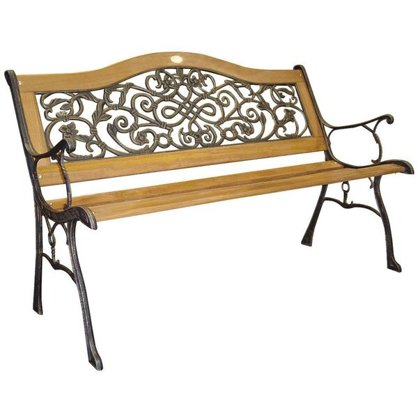 Sienna Wood and Cast Iron Park Bench by DC America