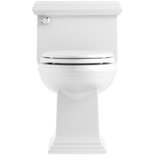 Memoirs Classic Comfort Height Skirted One-Piece Compact Elongated 1.28 gpf Toilet with AquaPiston Flush Technology and Left-Hand Trip Lever by Kohler
